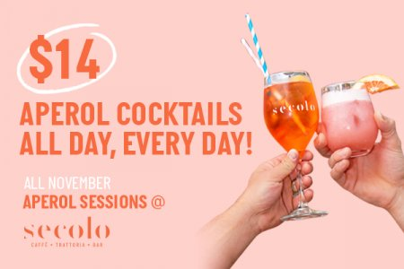 Aperol Sessions Happy Hour Sydney Secolo Dining